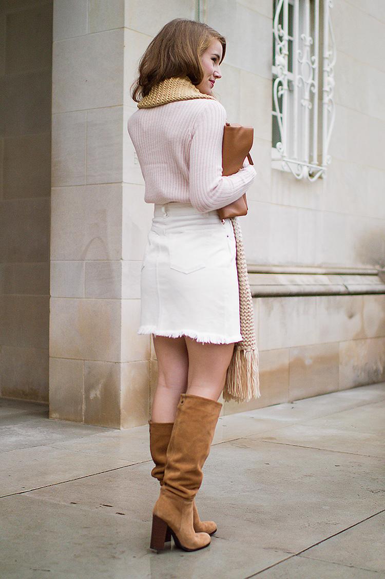 White Denim Skirt A Lonestar State Of Southern