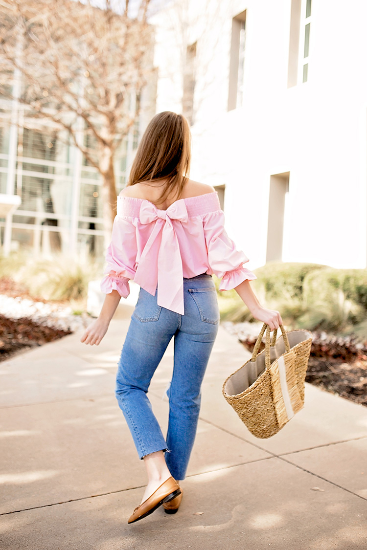 bow off the shoulder top
