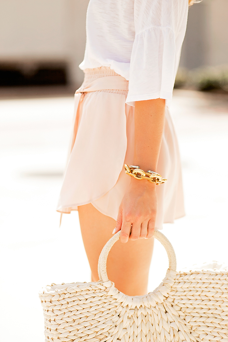 blush high waisted shorts