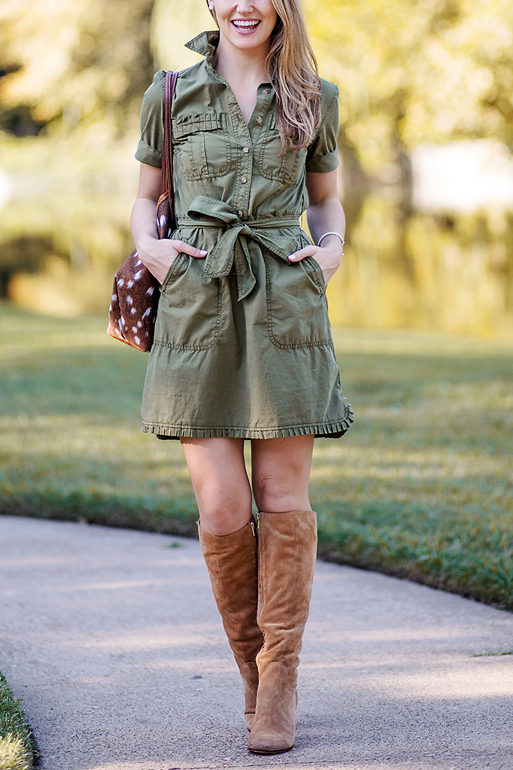 j.crew button down dress