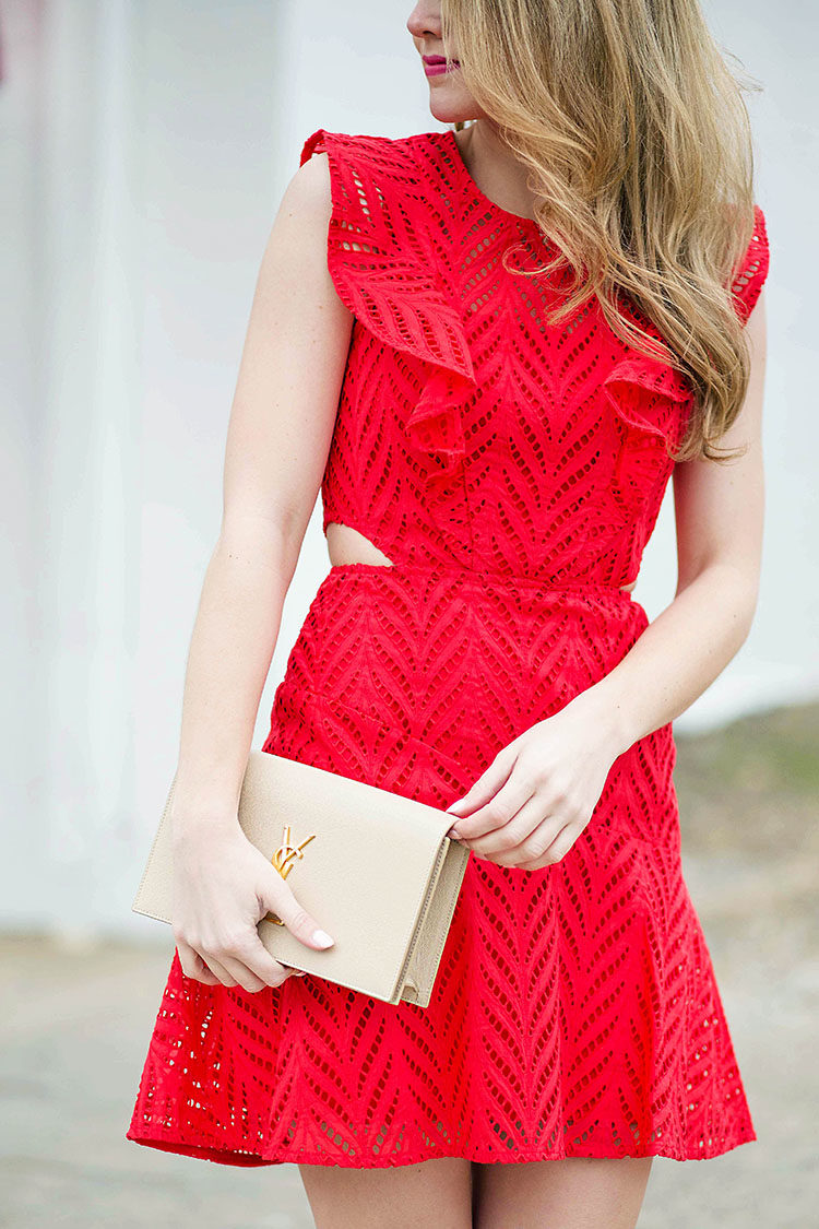 Red Crochet Ruffle Dress A Lonestar State Of Southern