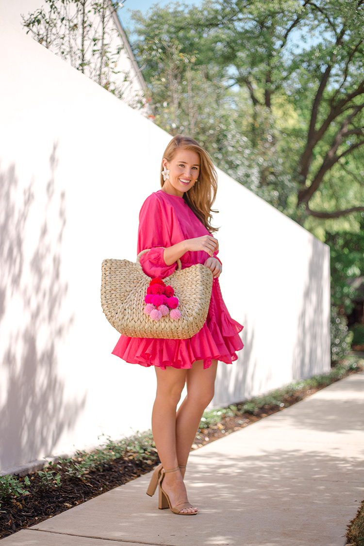 rhode resort ella dress, pink dress