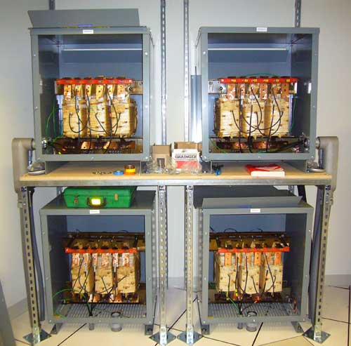 Data Center Transformer - Four in a Rack