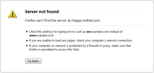 rhapps.redhat.com not found