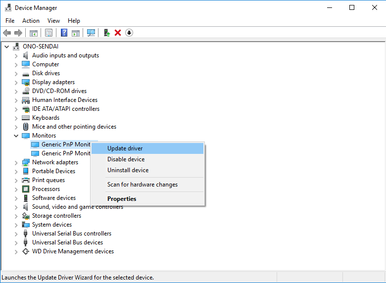 Windows Device Manager - Calibrate Your Monitor
