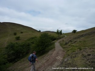 On the path up to the hill fort on Herefordshire Beacon