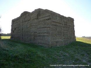 A hay house!