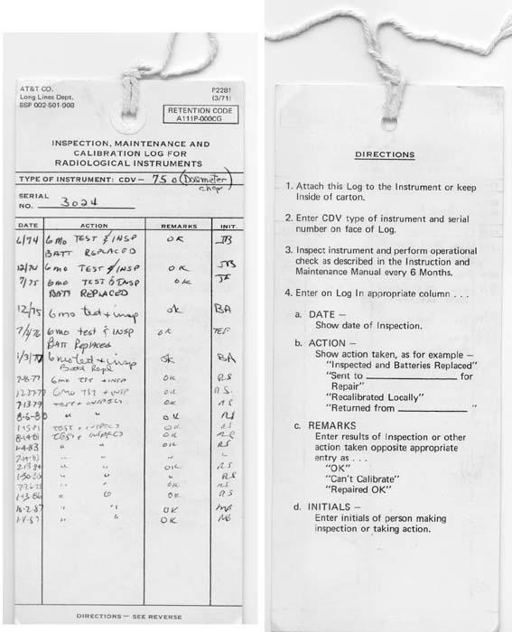AT&T Long Lines Hanover, PA Civil Defense Instructions