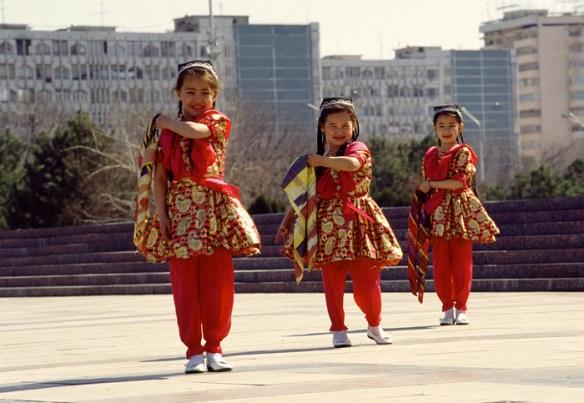 Dancing Girls Rehearsing