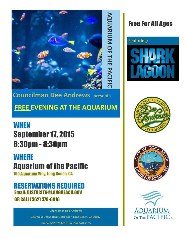 free event aquarium of the pacific