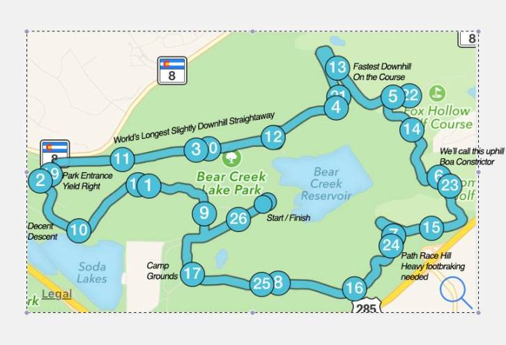 "Front Range ""Church"" Marathon Map"