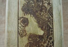 Hurtle Skateboards Stained Maple Graphic