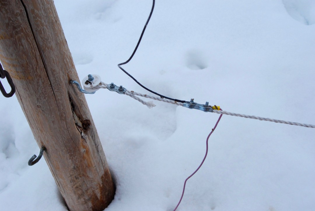 electric fence hook up