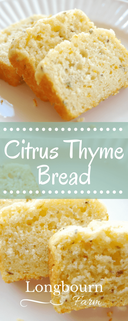 Delicious and fresh, this citrus thyme bread is sure to be your favorite dessert of the summer! It's a simple recipe with mega flavor!