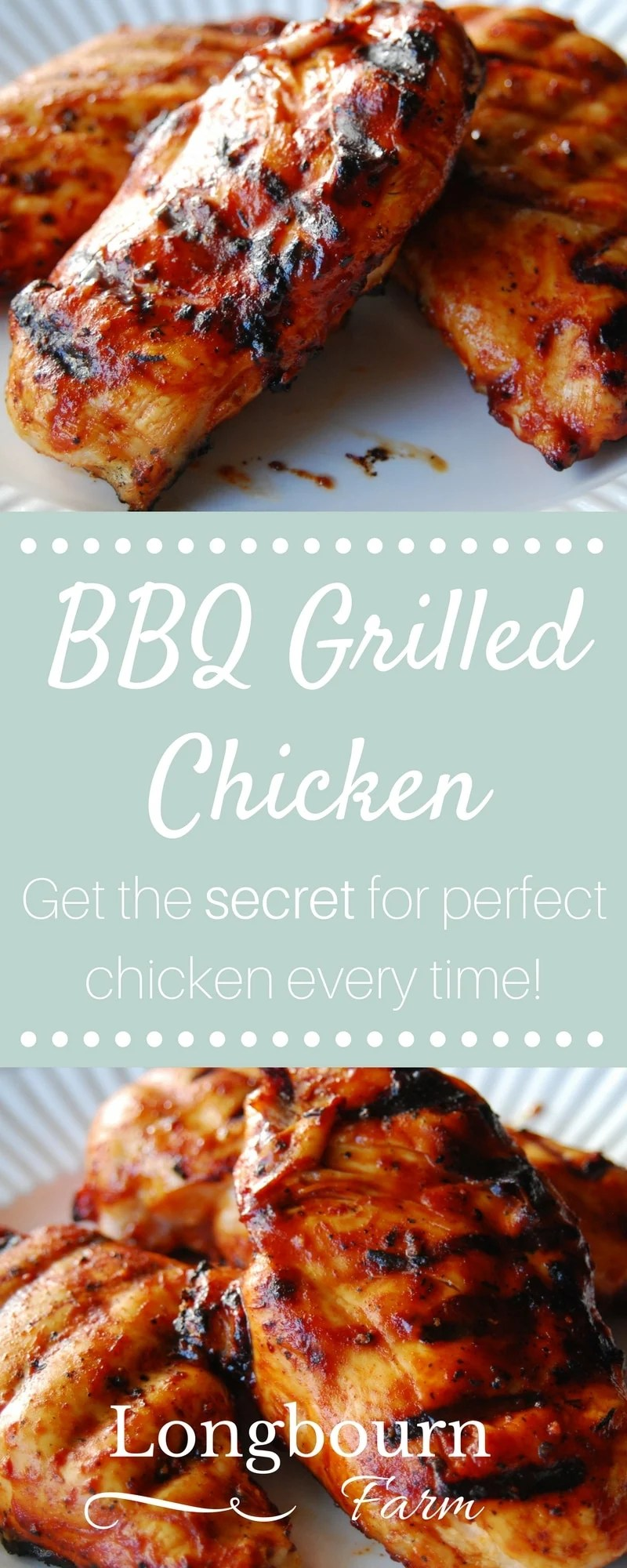 Find out the secret for how to make tender and juicy grilled BBQ chicken! No long brining steps, just a simple grilling method for perfect BBQ chicken.