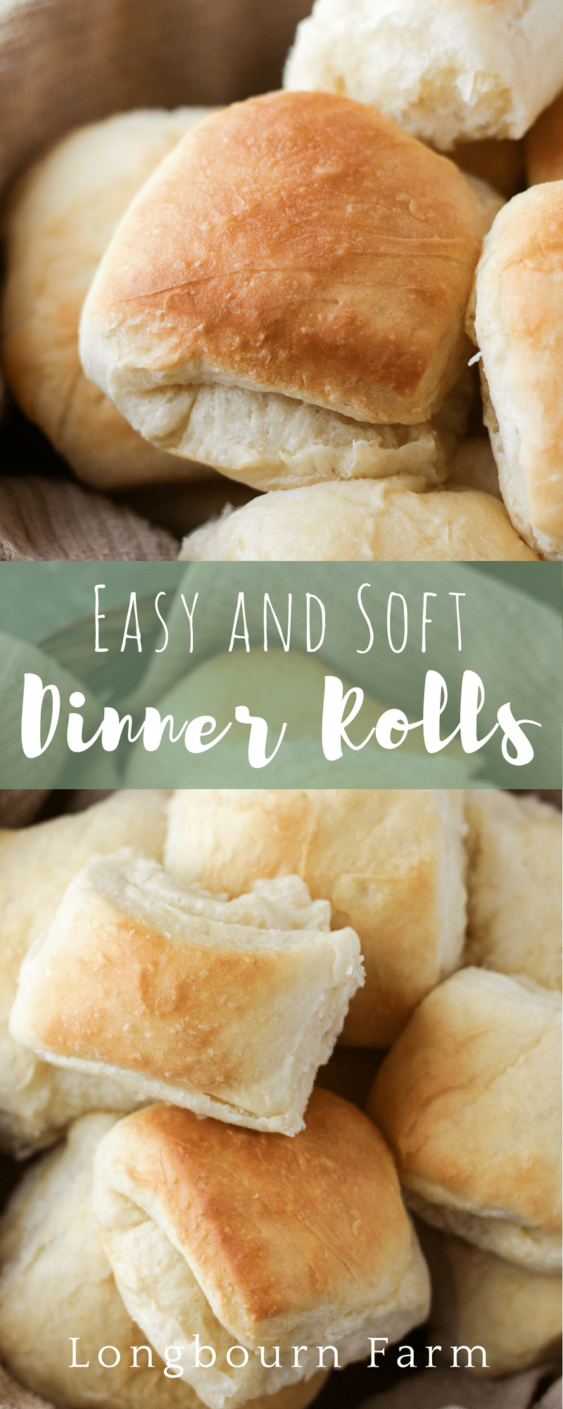 This easy dinner roll recipe is perfect for any meal, especially holiday dinners! No kneading required, these soft, fluffy, rolls are perfect every time.