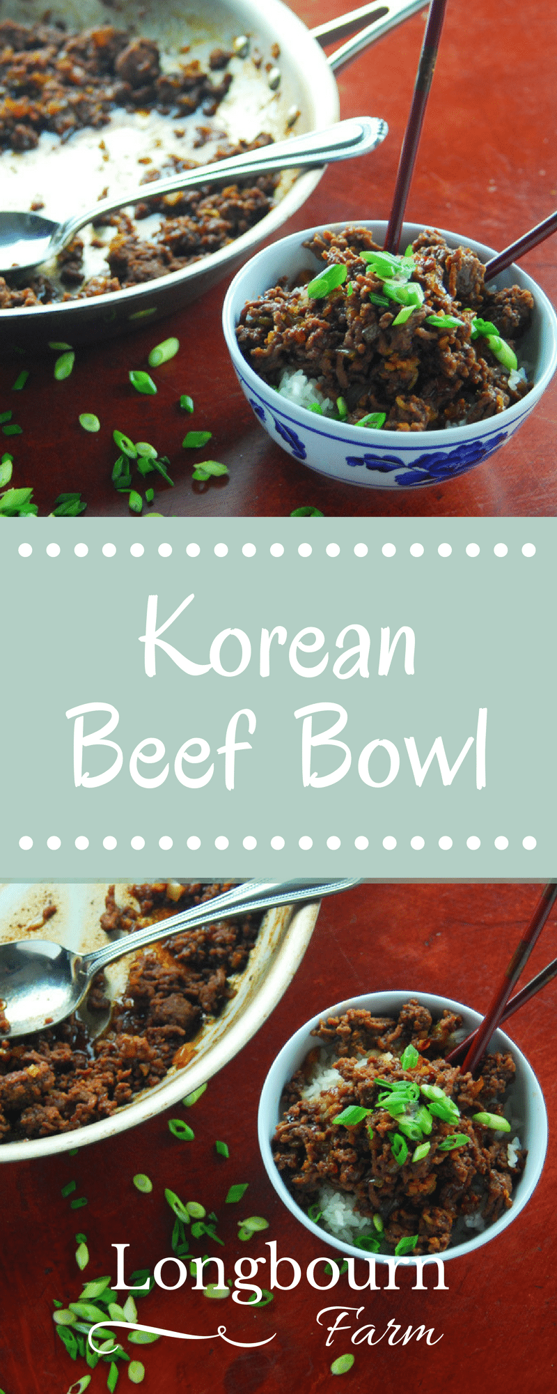 This Korean Beef Bowl recipe is a quick meal you can have on the table in 30 minutes. Sweet, spicy, and totally delicious. Your family will love it, try it!