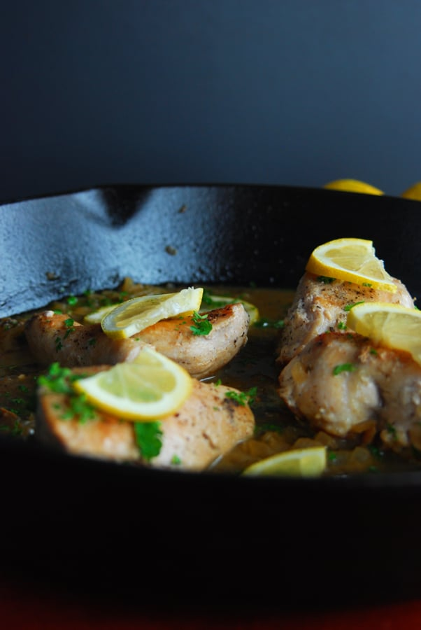 Skillet Chicken with Lemon Sauce