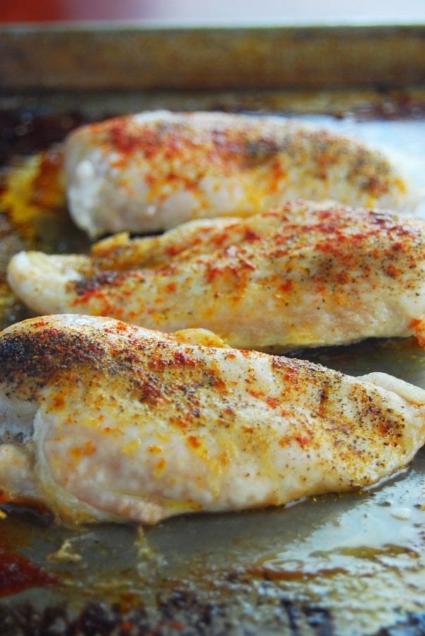 How to bake chicken breasts in the oven!