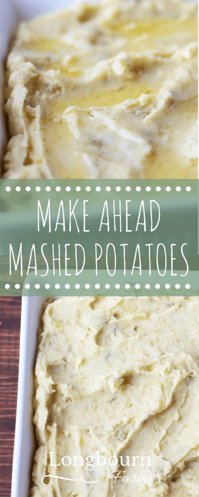 Don't ever eat cold mashed potatoes again! Make ahead mashed potatoes are delicious and convenient. Make them early in the day for a quick side dish come dinner time.