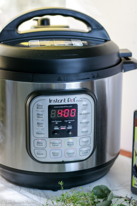 Instant Pot 8 Quart on Slow Cook mode.