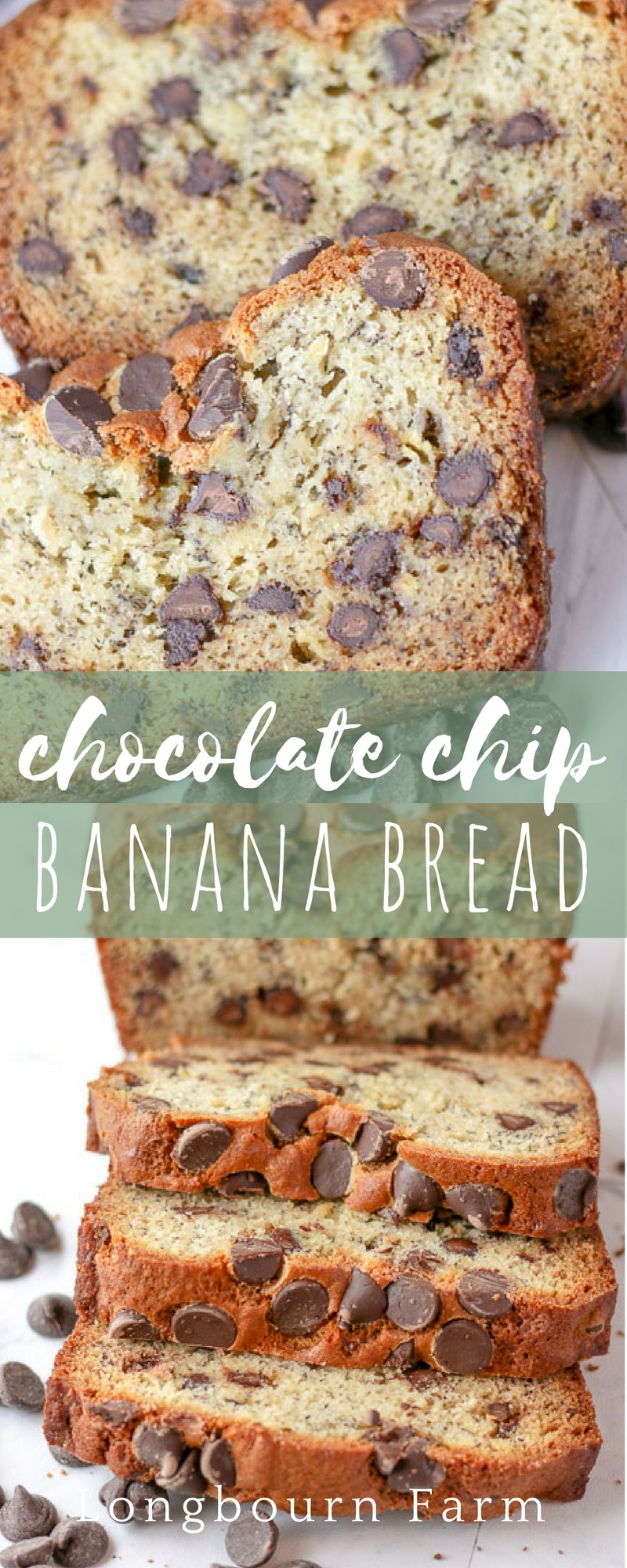 This chocolate chip banana bread recipe is an old family favorite that we have loved for years. This recipe is perfect, moist, and turns out every time.