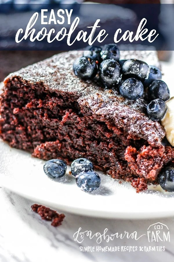 This Basic Chocolate Cake Recipe Uses Simple Old Fashioned Ingredients And Turns Out Perfectly