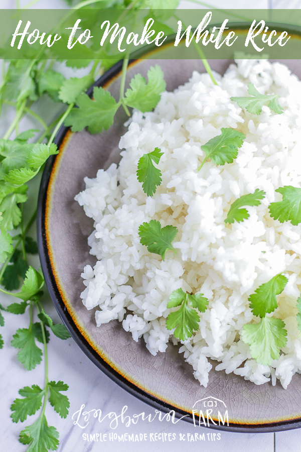 This homemade white rice recipe is simple and will teach you how to make your own rice at home! Making rice at home is so easy, this post will cover all the basics you need to know. #rice #whiterice #howto #howtomakerice #makingrice #whitericewater #watertoriceratio #cookingrice #howtocookrice #cookingwhiterice