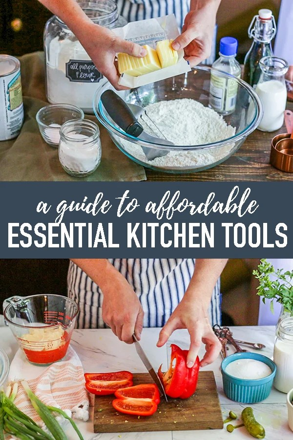 A no-fuss list of affordable and quality kitchen essentials for your home! Everything on this kitchen equipment list areitems I use and my personal favorites. #longbournfarm #kitchentools #kitchenessentials #kitcheneequipment #kitchenessentialslist #cookingessentails #cookingtools #bakingessentials #bakingtools