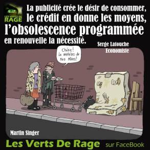 Verts de rage 6 - citation Serge Latouche