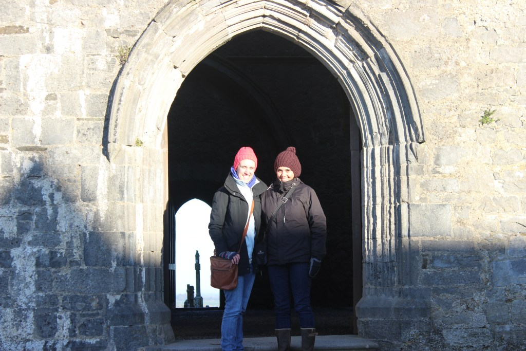 Naiomi and I at the Rock of Cashel.
