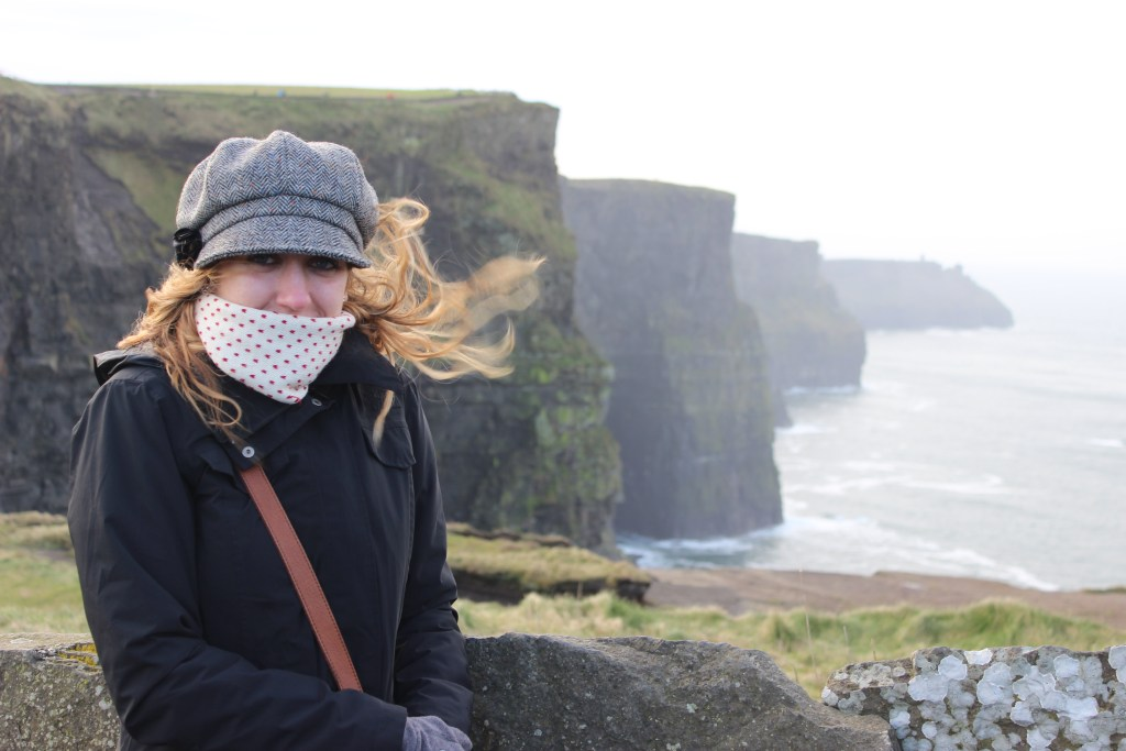 At the Cliffs of Moher.
