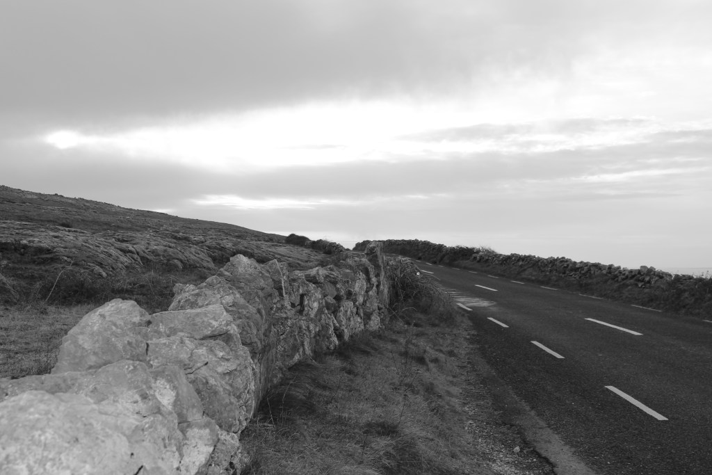 The drive through the Burren on the way to Galway.
