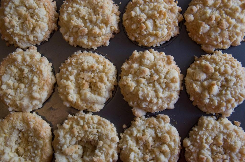 Lemon Crumble Muffins   longdistancebaking.com