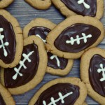 Peanut Butter Chocolate Football Cookies