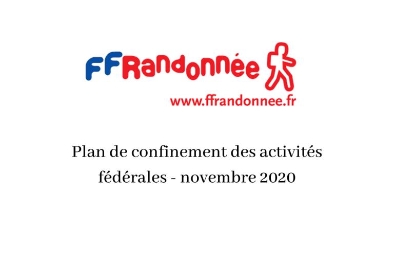 Read more about the article FFRandonnée : Plan de confinement des activités fédérales