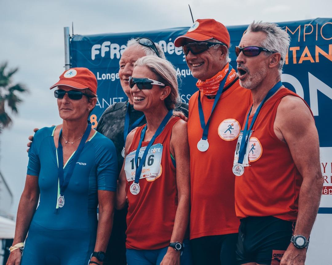 Podium championnat longe-côte d'Occitanie 2021