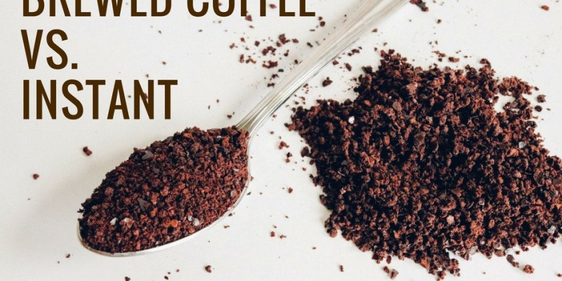 Health Benefits Instant Coffee Vs. Brewed.
