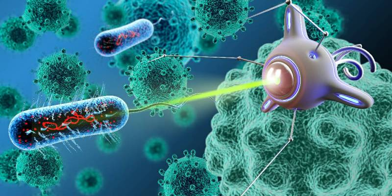 A bacteriobot is a medical nanorobot - Bacteriobots are used to treat cancer.