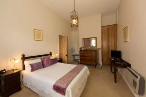 Downstairs Queen room with ensuite at The Racecourse Inn, Longford, Tasmania - heritage B&B accommodation.