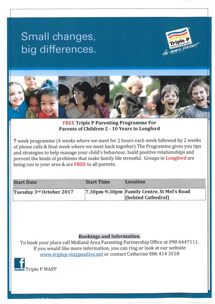 Triple P Parenting Programme  Longford Childcare Committee