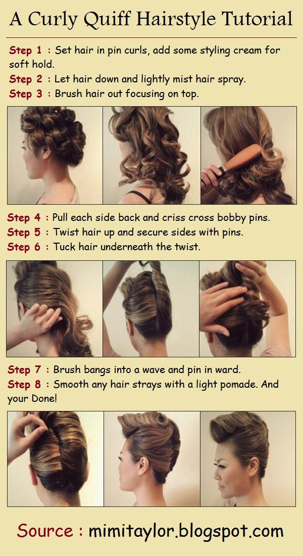 Curly Quiff Hairstyle Tutorial  Long Hairstyles How To