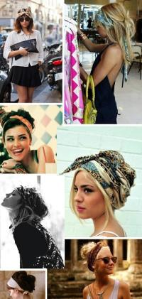 head scarves  Long Hairstyles How To