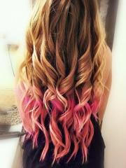pink tips long hairstyles