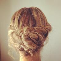 Thick Braid Updo  Long Hairstyles How To