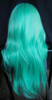turquoise hair long hairstyles