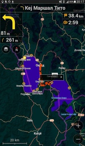 OsAndm night mode turn-by-turn directions. Offline Mapping Tools for Cycle Touring.