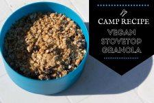 Vegan Stovetop Granola | Long Haul Trekkers