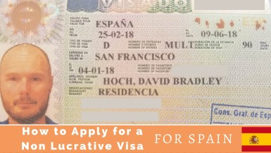 visa for Spain from the USA