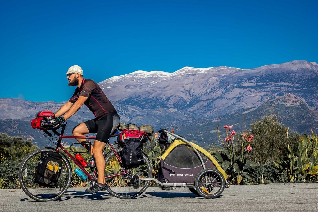 The Burley Tail Wagon Bike Trailer in Crete..